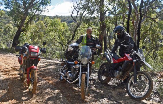 Mt Irvine to Bilpin Road bikes Peter Julian