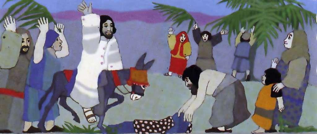 In ausmalbild jerusalem einzug jesus Jesu Einzug